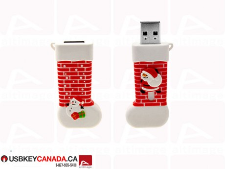 Custom santa sock usb key