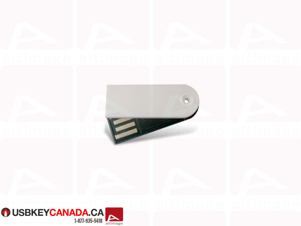 Custom small white usb key