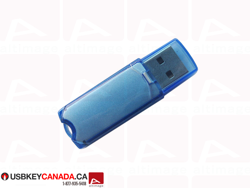 Custom blue usb key