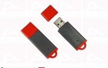 Custom grey and red usb key