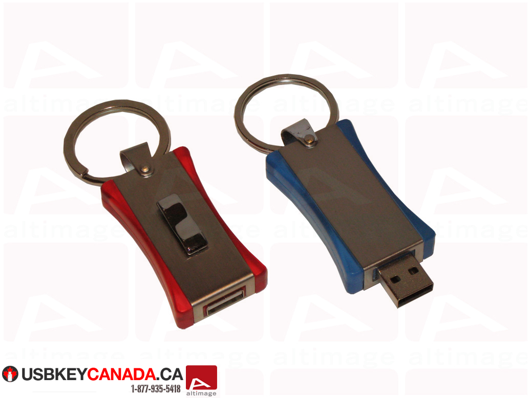 Custom curved usb key metal and plastic