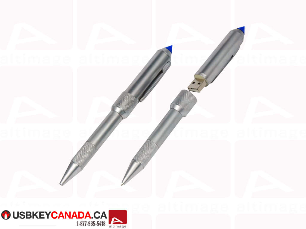 Custom usb key silver pen