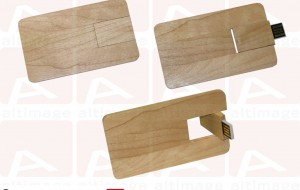Custom usb card wood