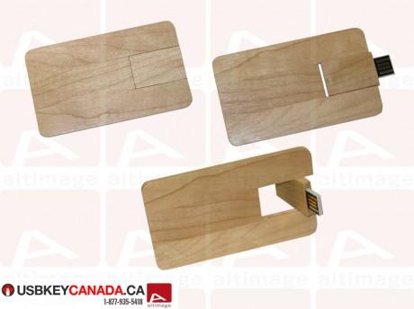 Custom usb card wood