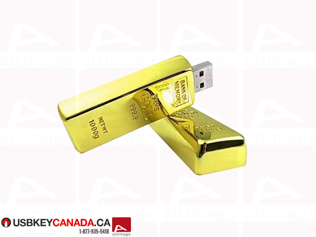 Custom gold bar usb key