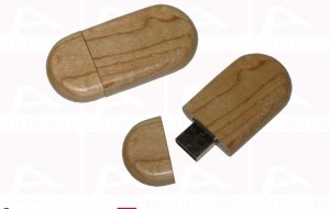 Custom curved wood usb key