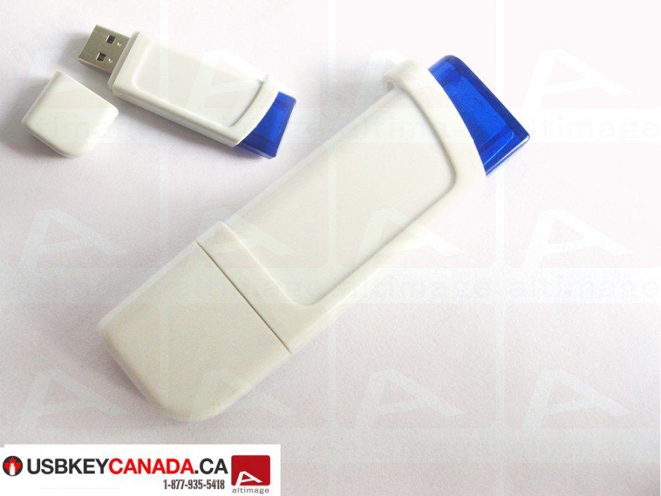 Custom white usb key