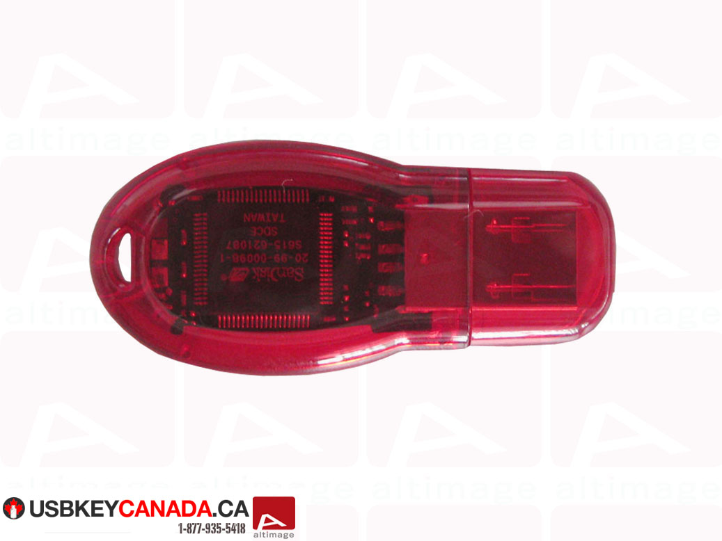 Custom plastic usb key red