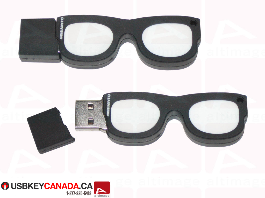 Glasses custom usb key