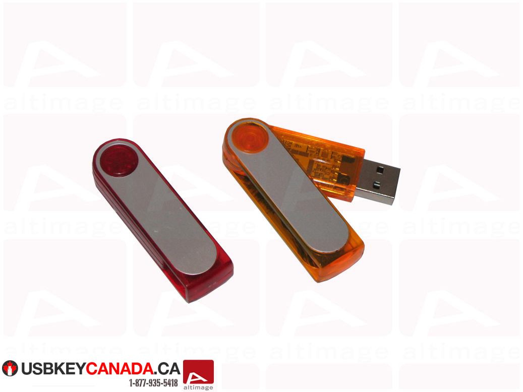 Custom slide plastic usb key
