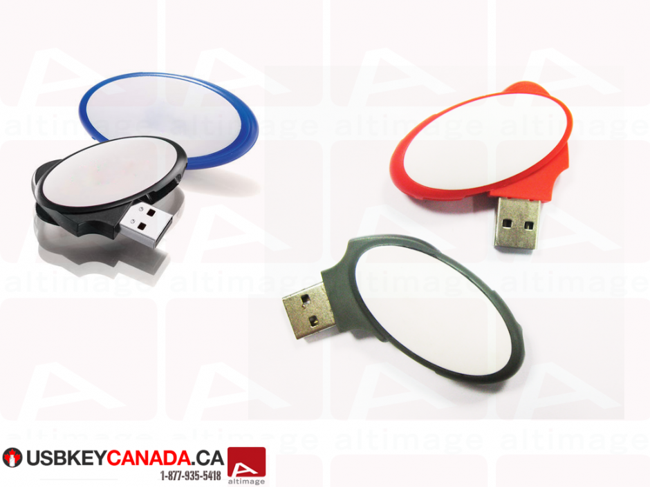 Custom circle usb key