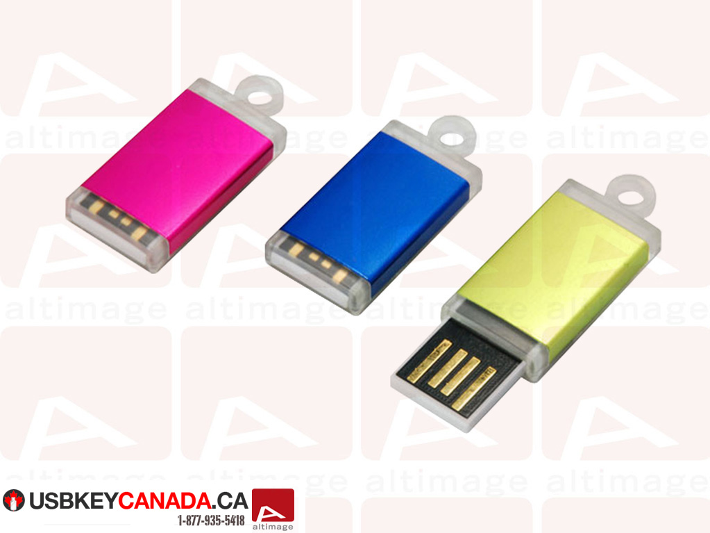 Small usb key colored