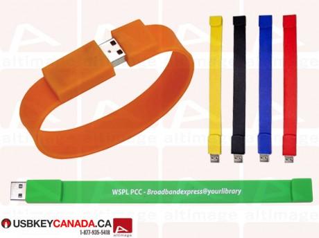 Custom rubber bracelet usb key