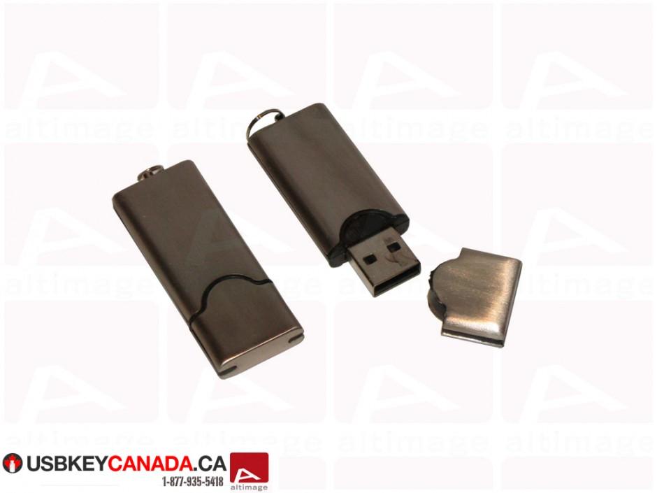 Custom metallic usb key