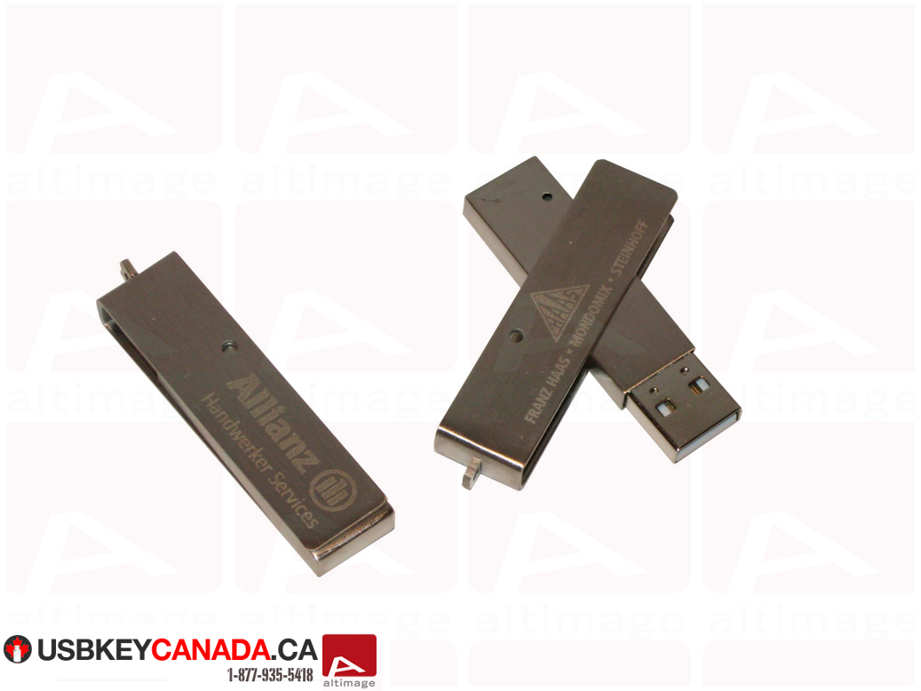 Custom slide metal usb key