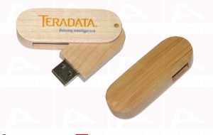 Custom usb key Teradata wood