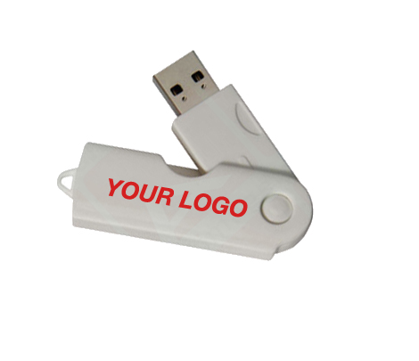 Your Logo on a Custom USB Flash Drive Swivel ALT 400