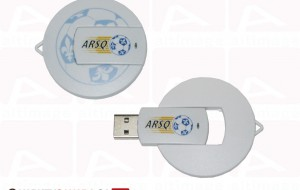 Custom usb key circle