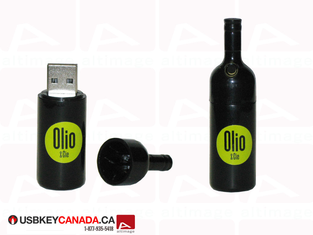 Custom usb key bottle