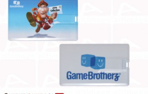 Plastic usb card Game Brotherz custom