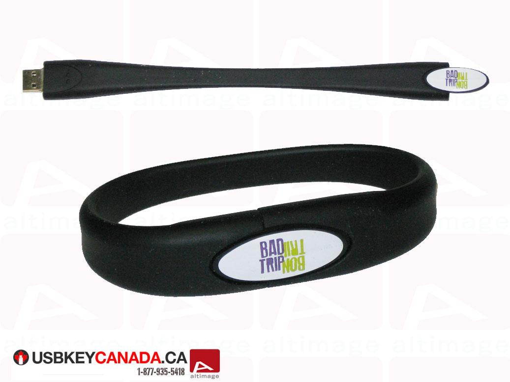 Custom usb key plastic bracelet