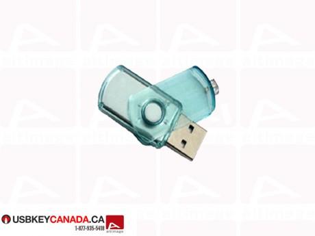 Custom Flash Drive slide cap transparent