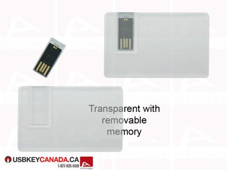 Custom transparent USB Business Card