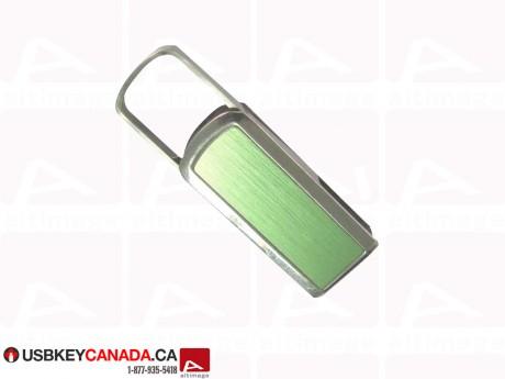 Custom green metallic USB Key