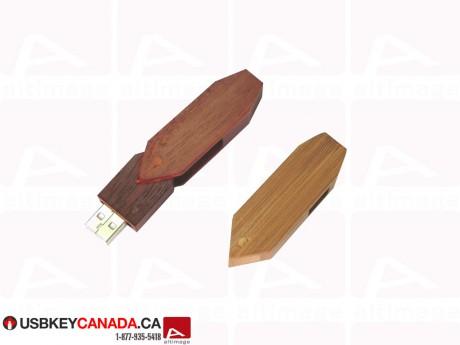 Custom geometric USB Key wood