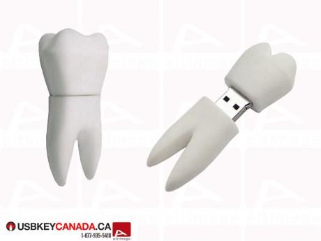 Custom tooth USB Key