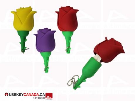 Custom USB Key rose