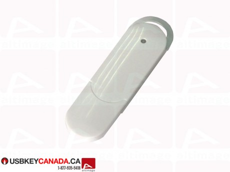 Custom white Flash Drive