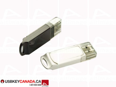 Custom Flash Drive with transparent cap