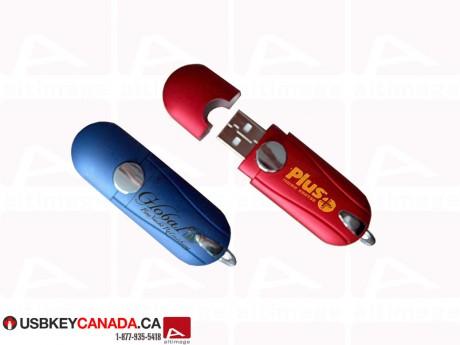 Custom red or blue USB Key