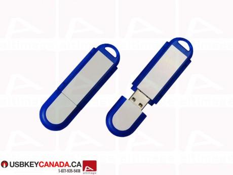 Custom USB Key silver and blue