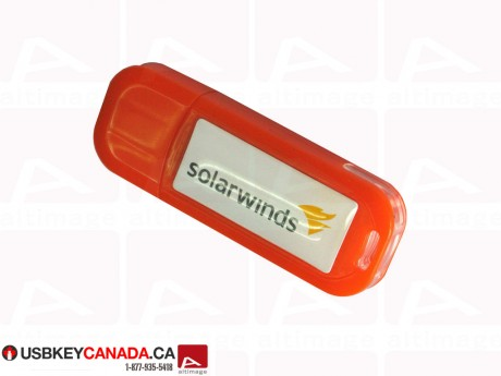 Custom plastic orange Flash Drive