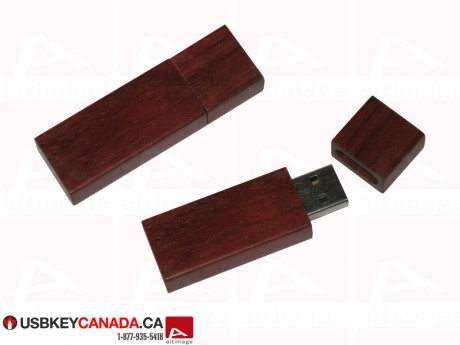 Cutom dark wood Flash Drive