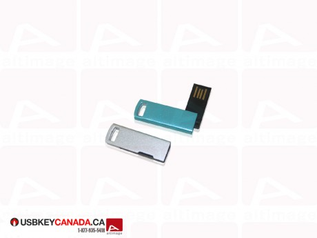 Custom mini metallic Flash Drive