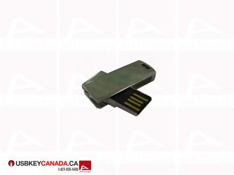 Custom mini USB Key metallic
