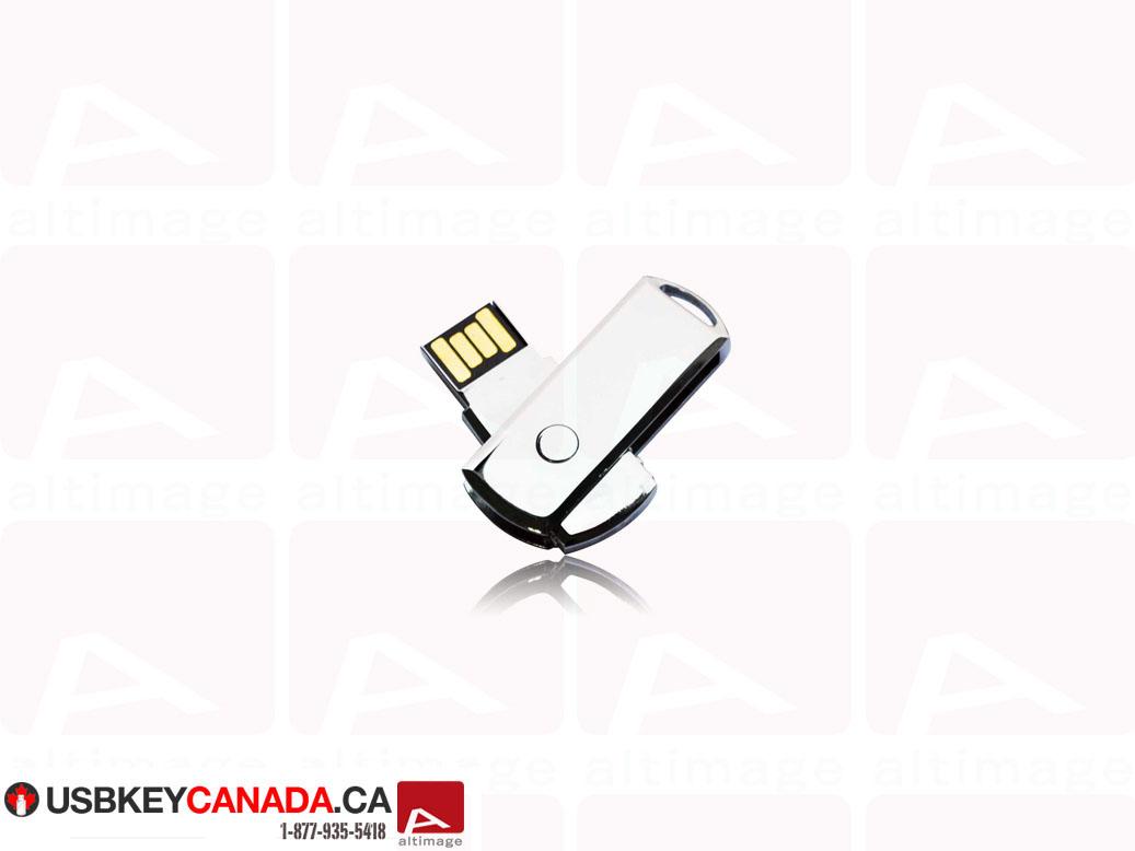 Custom metallic slide usb key