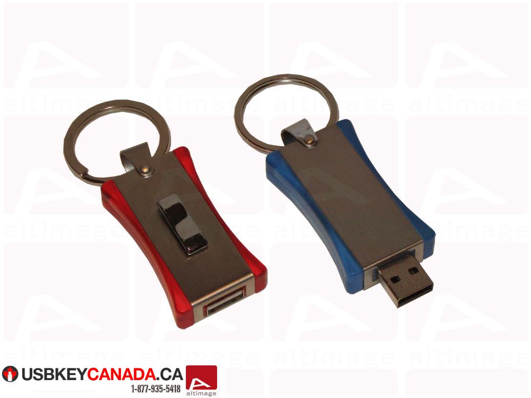 Custom curved usb key metal and plastic