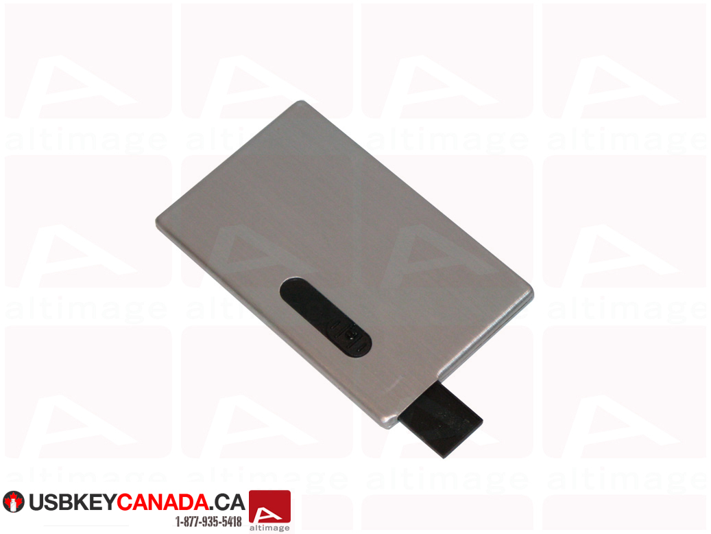 Custom slide usb card