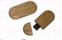 Custom curved wood usb key