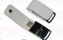 Custom white leather usb key