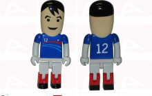 Usb key soccer player