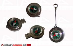 Custom compass usb key