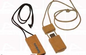 Custom wood usb key with layard