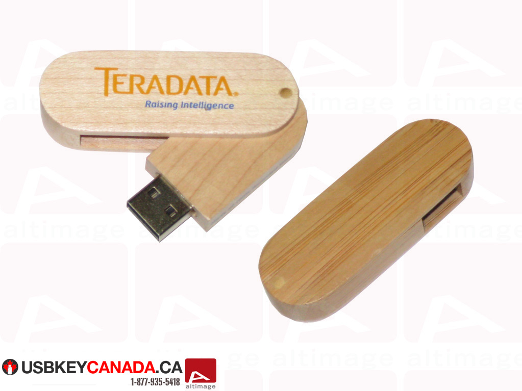 Custom usb key Teradata wood