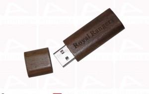 Custom usbk key dark wood