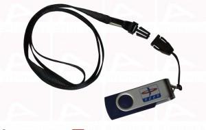 Custom usb key with lanyard